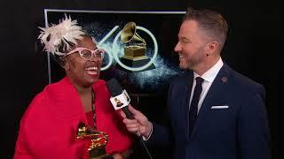 Cecile McLorin Salvant On Winning Best Jazz Vocal Album | Backstage | 60th GRAMMYs