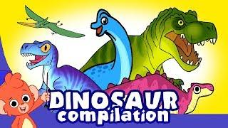 Learn Dinosaurs for Kids | Scary Dinosaur movie Compilation | t-rex Triceratops