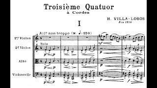 """Heitor Villa-Lobos - String Quartet No. 3 (1916) """"Quarteto de pipocas"""""""