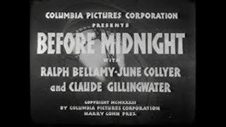 1933 Before Midnight Mystery Spooky Movie Dave