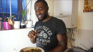 VEGAN BODYBUILDING + HIGH PROTEIN POST WORKOUT MEAL | HEALTH IS WEALTH