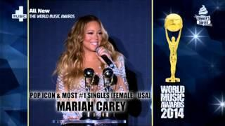 Mariah Carey Wins Pop Icon Award - The World Music Awards 2014