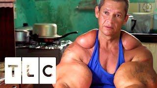 Bodybuilders Inject Muscles With Oil | Real Life Hulks