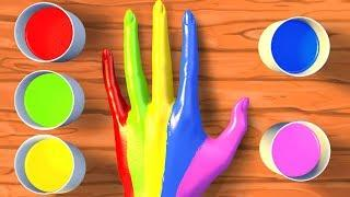 Learn Colors with Body Paint | Finger Family & Nursery Rhymes - Panda Bo Classics