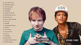 Top 30 Songs Of Bruno Mars, Ed Sheeran - Greatest Hits Full Album Playlist