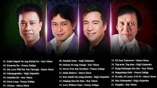 Rey Valera, Marco Sison, Nonoy Zuñiga, Hajji Alejandro Best OPM Tagalog Love Songs Collection 2018