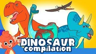 Learn Dinosaurs for Kids | Scary Dinosaur movie Compilation | T Rex Triceratops