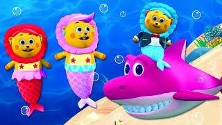 MERMAID FAMILY SONG 3D | Learn Colors For Children Nursery Rhymes All Babies Channel | Kids Songs